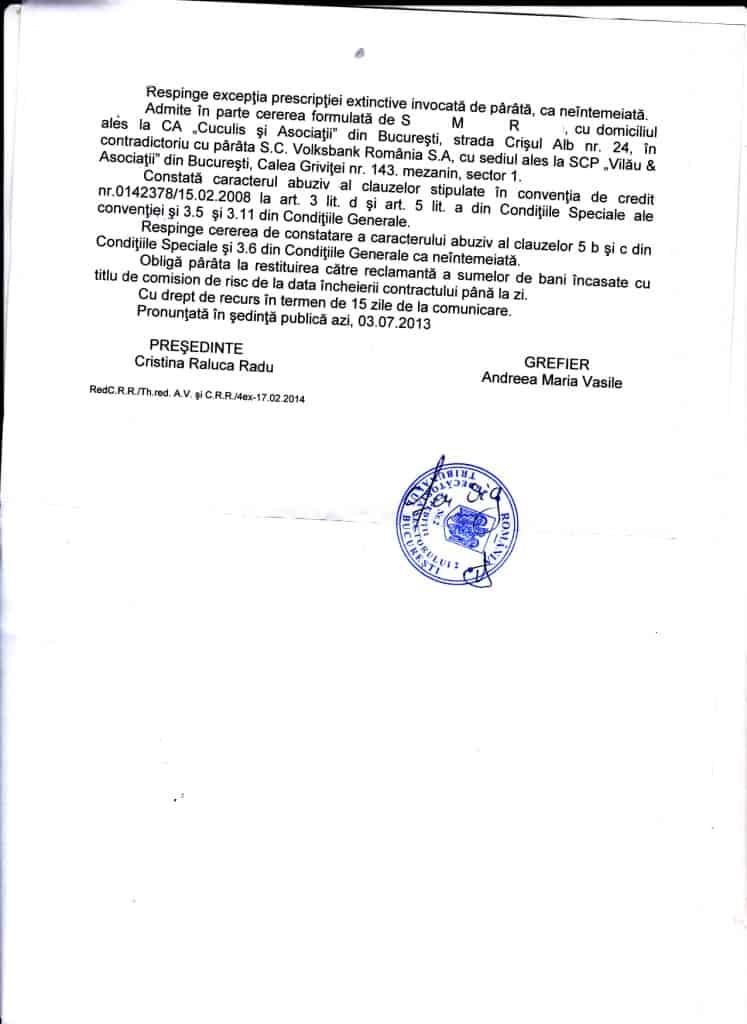 Simion Miahela volksbank castigata sentinta