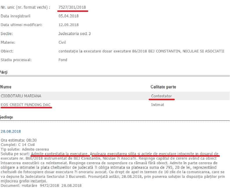 Executat Silit De Eos Credit Funding Dac