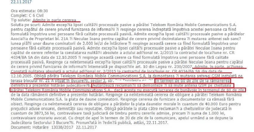 Telekom Mobile SA Obligata Sa Demonteze Antenele GSM