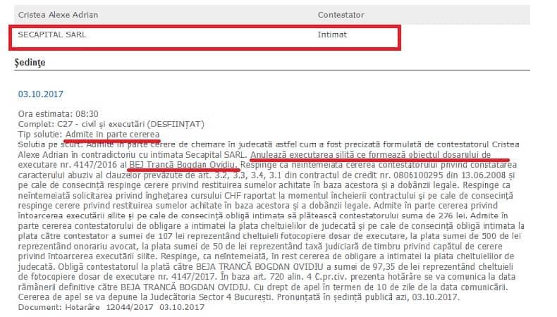 Secapital Infrant In Instanta
