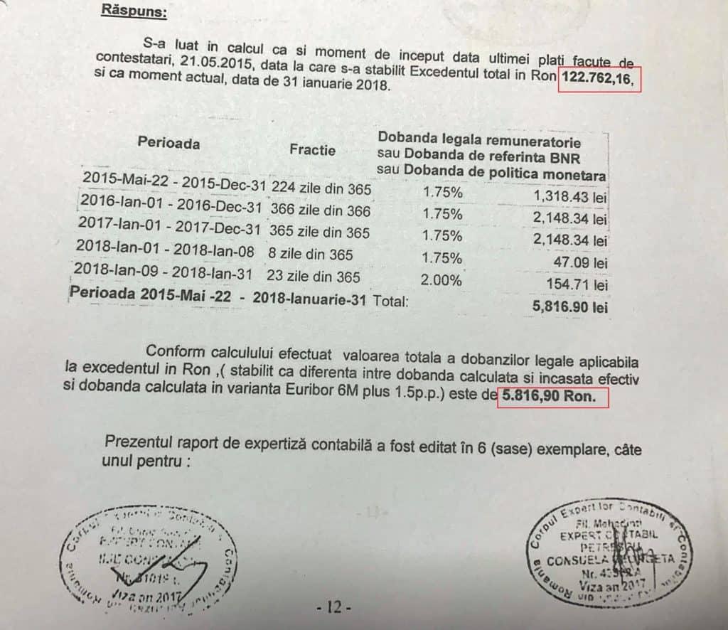 obligarea bancii la plata dobanzii legale