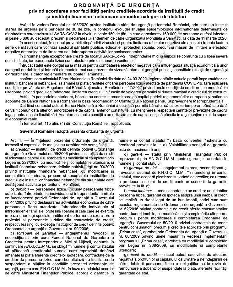 NOTIFICAREA DE SUSPENDARE A RATELOR