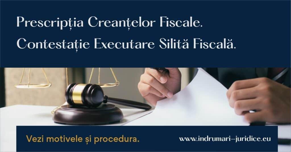 Prescriptia Creantelor Fiscale