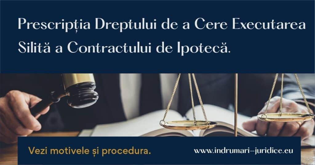 Executarea Silita A Contractului De Ipoteca