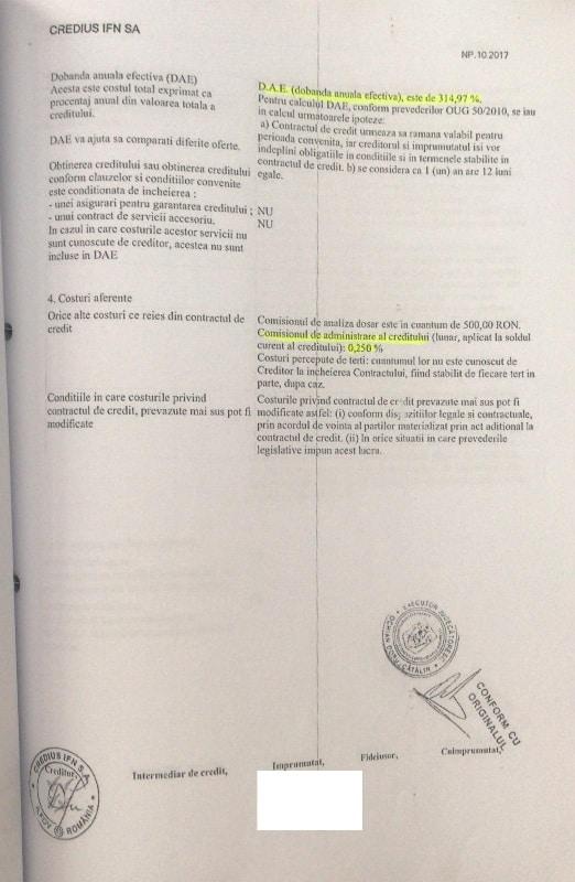 clauze abuzive contracte credius si finopro