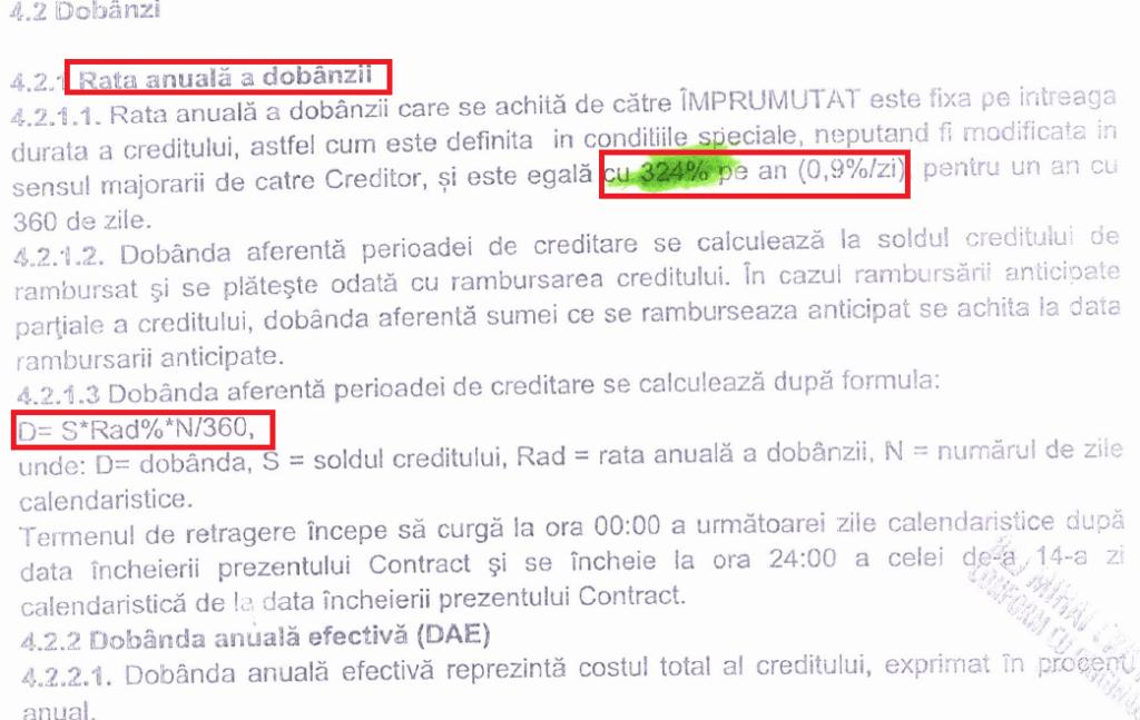 Anularea Dobanzii Contractuale