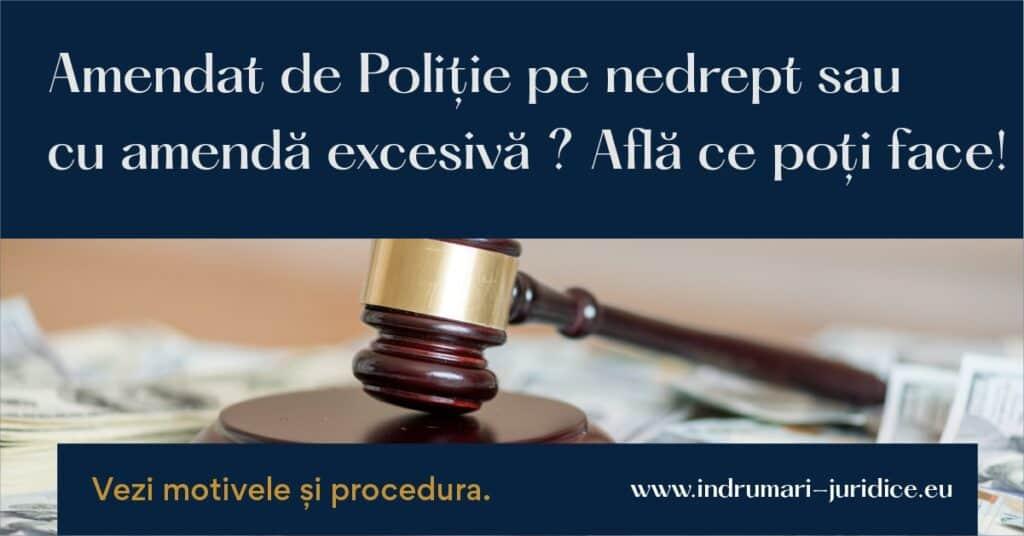 Contestatie Amenda Contraventionala